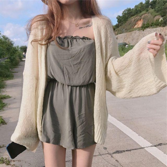 Áo khoác len mỏng - sẵn hàng