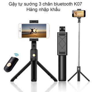 Gậy tự sướng có điều khiển bluetooth, selfie đa năng, giá đỡ 3 chân cao cấp K07 [GẬY TỰ SƯỚNG]