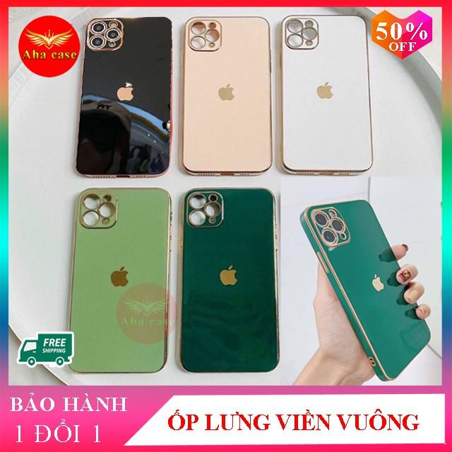 Ốp iphone - Ốp lưng viền vuông giả ip 12 dành cho 11, 11 Pro, 11 Pro Max, 12, 12 Pro Max thiết kế sang trọng - Aha Case