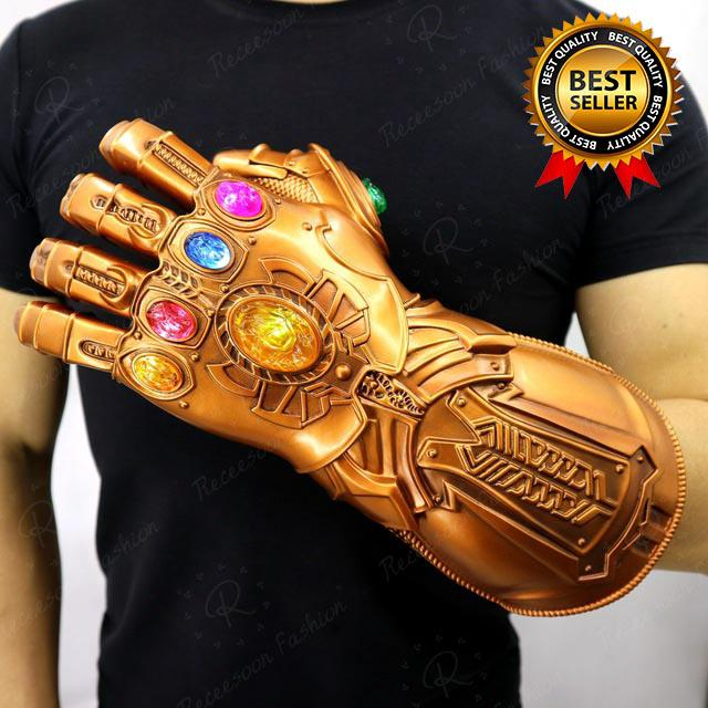 Avengers Thanos Infinity Gauntlet Cosplay LED Light Gloves Model Toys Gift