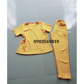 Bộ kĩ thuật viên Spa, TMV màu vàng