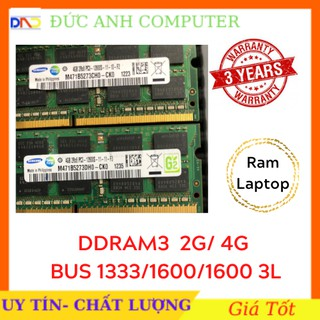 RAM Laptop  ⚡ Bảo Hành 3 Năm ⚡ RAM Laptop DDR3 2G/ 4G Bus 1333/ 1600/1600 3L    Mới  Bảo Hành 3 Năm- Siêu Chất Lượng