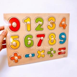 [BÉ HỌC] Đồ chơi bảng số bằng gỗ 30 cm