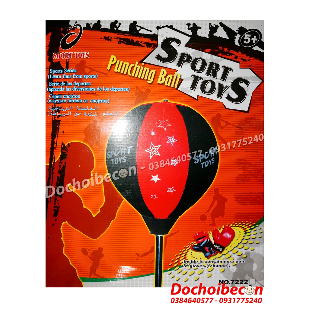 Bộ đồ chơi đấm bốc Boxing - Punching Ball 7222 - Loại lớn