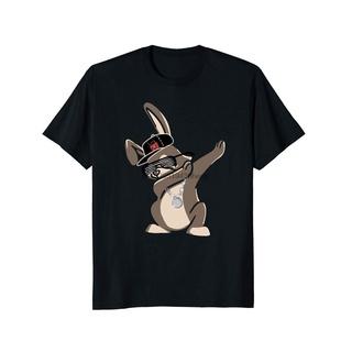 Áo Thun Cotton Tay Ngắn Cổ Tròn In Hình Thỏ Bunny Thời Trang Mùa Xuân Cho Nam