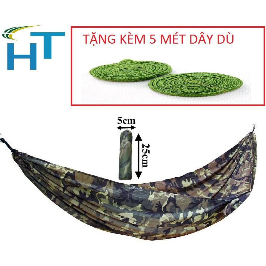 Võng dù nhập khẩu Thái Lan rằng ri .Tặng kèm 5 mét dây dù