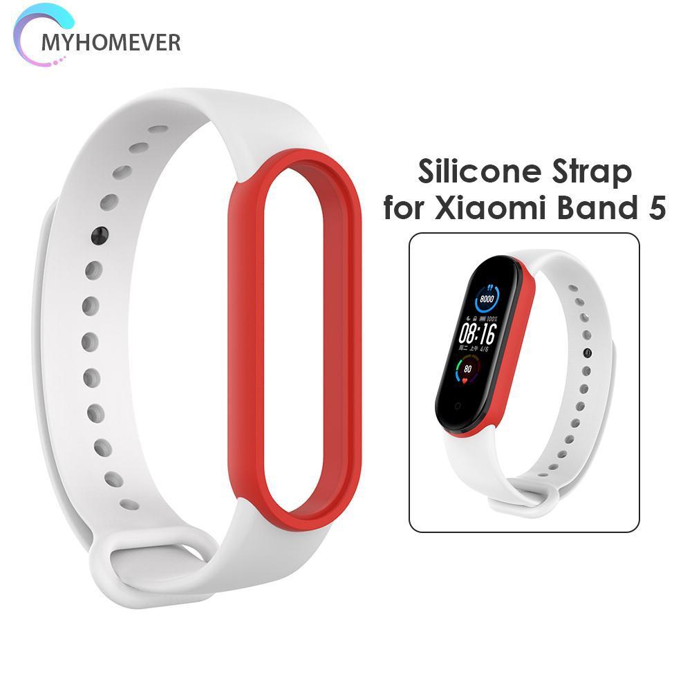 Dây Đeo Silicon Thay Thế Cho Đồng Hồ Thông Minh Xiaomi Mi Band 5 5 Nfc