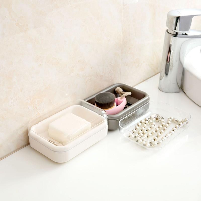 Hộp xà phòng không thấm nước có nắp hộp phòng tắm cống xà phòng Sáng tạo xà phòn