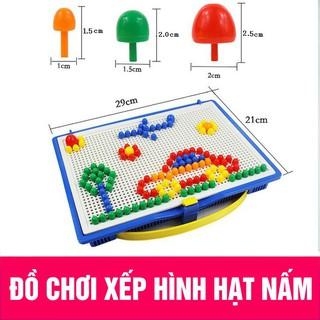 (Có sẵn) Đồ chơi xếp hình nấm thông minh 296 chi tiết cho bé giá tốt