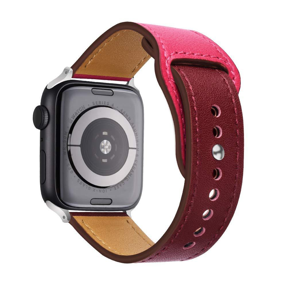 Apple Watch 4/3/2/1 Genuine Leather Replacement Strap Color Blocking