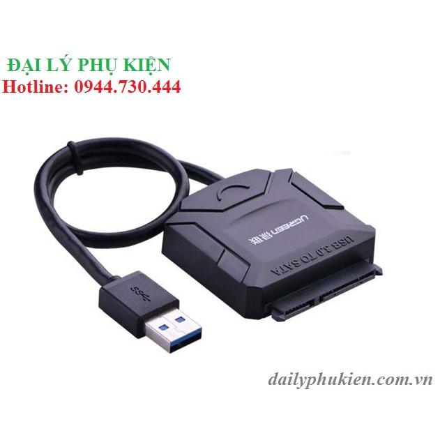 Cáp USB 3.0 sang Sata UGREEN 20231 + nguồn hỗ trợ
