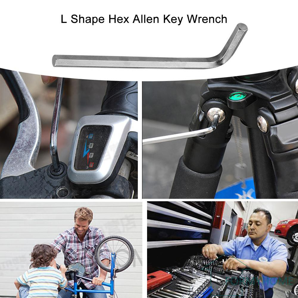 3mm Hexagon L Shape Allen Key Wrench Metric Nickel Plated Flat Head Spanner
