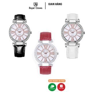 Đồng hồ nữ chính hãng Royal Crown 6116 dây da các màu thumbnail