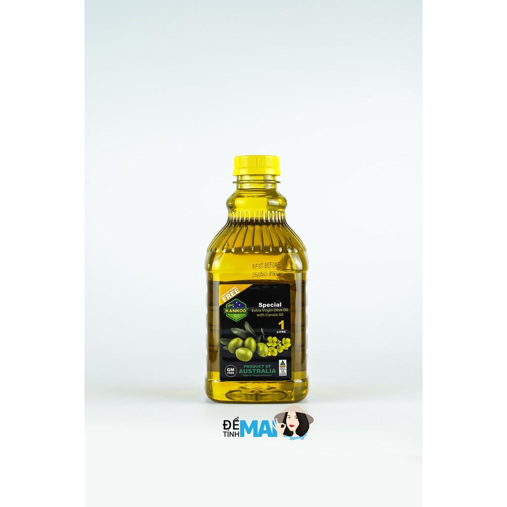 Dầu Olive hạt cải chiên xào, trộn salad nhập khẩu Úc Kankoo - Kankoo Oil loại 1 lít (Hàng chính hãng)