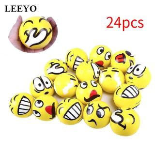 24pcs Emoticon Stress Balls Happy Yellow Smile For Kids Adult Relief Marvelous