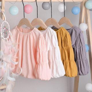 Áo Liền Quần Tay Dài Chất Liệu Cotton Phong Cách Công Chúa Thời Trang Mùa Thu Dễ Thương Dành Cho Bé Gái Se7en