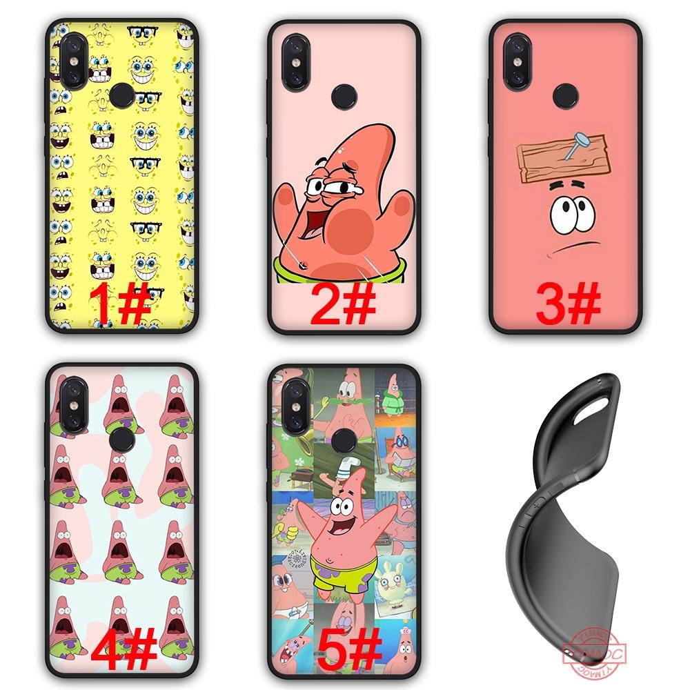 31T Cute Spongebob Soft Silicone Black TPU Case Xiaomi Mi 9 SE A2 Lite 8 Lite SE A1 5X 6X F1 Max 3 Cover