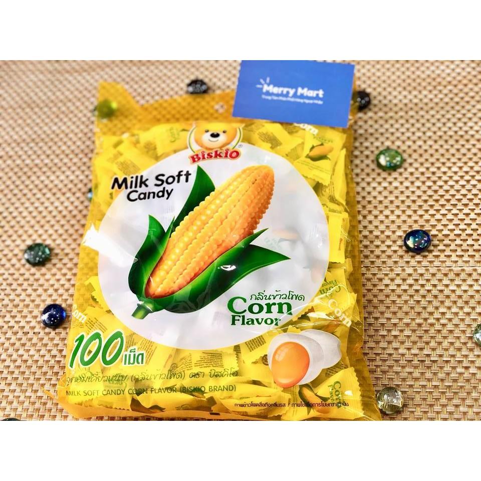 Kẹo dẻo trái cây Biskio Thái Lan vị bắp (380g x 100 viên) KDTCBiskio01