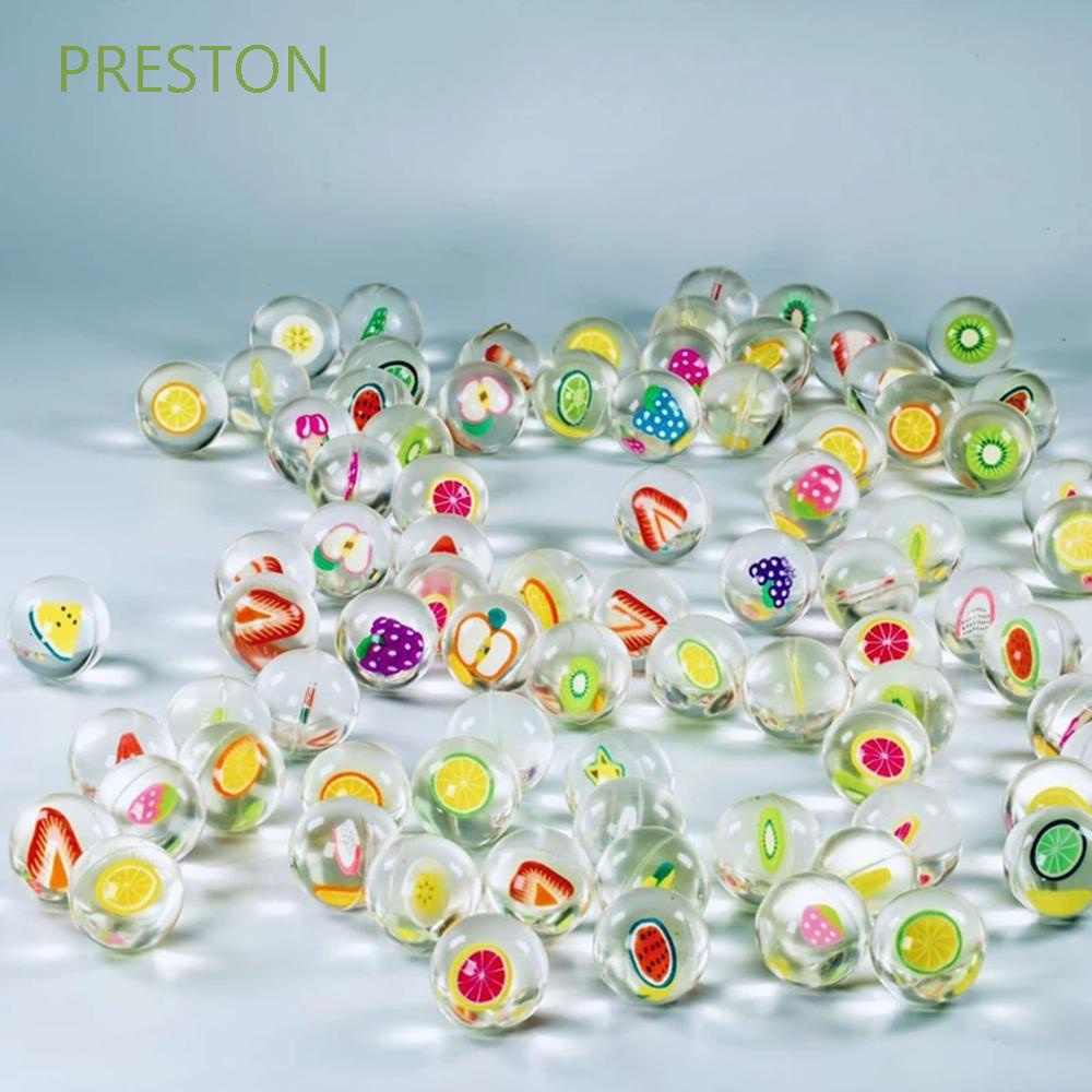 PRESTON Outdoor Sports Bouncing Balls 10pcs/lot Fruits Bouncy Balls Juggling Funny toy Kids Gift Floating Bath Toys Clear Jumping Balls