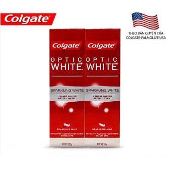 Bộ 2 kem đánh răng Colgate Optic White làm trắng răng 100g - 3240726 , 806400101 , 322_806400101 , 74900 , Bo-2-kem-danh-rang-Colgate-Optic-White-lam-trang-rang-100g-322_806400101 , shopee.vn , Bộ 2 kem đánh răng Colgate Optic White làm trắng răng 100g