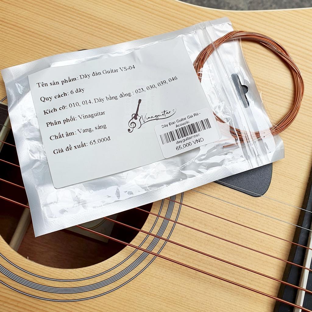 Bộ dây đàn guitar acoustic chuyên lắp đàn cho các xưởng giá rẻ ( tặng kèm pick gảy )