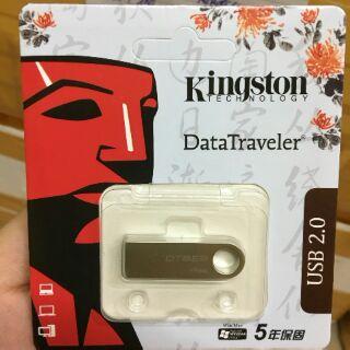 [Mã ELFLASH5 giảm 20K đơn 50K] USB chống nước 2.0 Kingston DTSE9 - 4GB - Hàng chính hãng