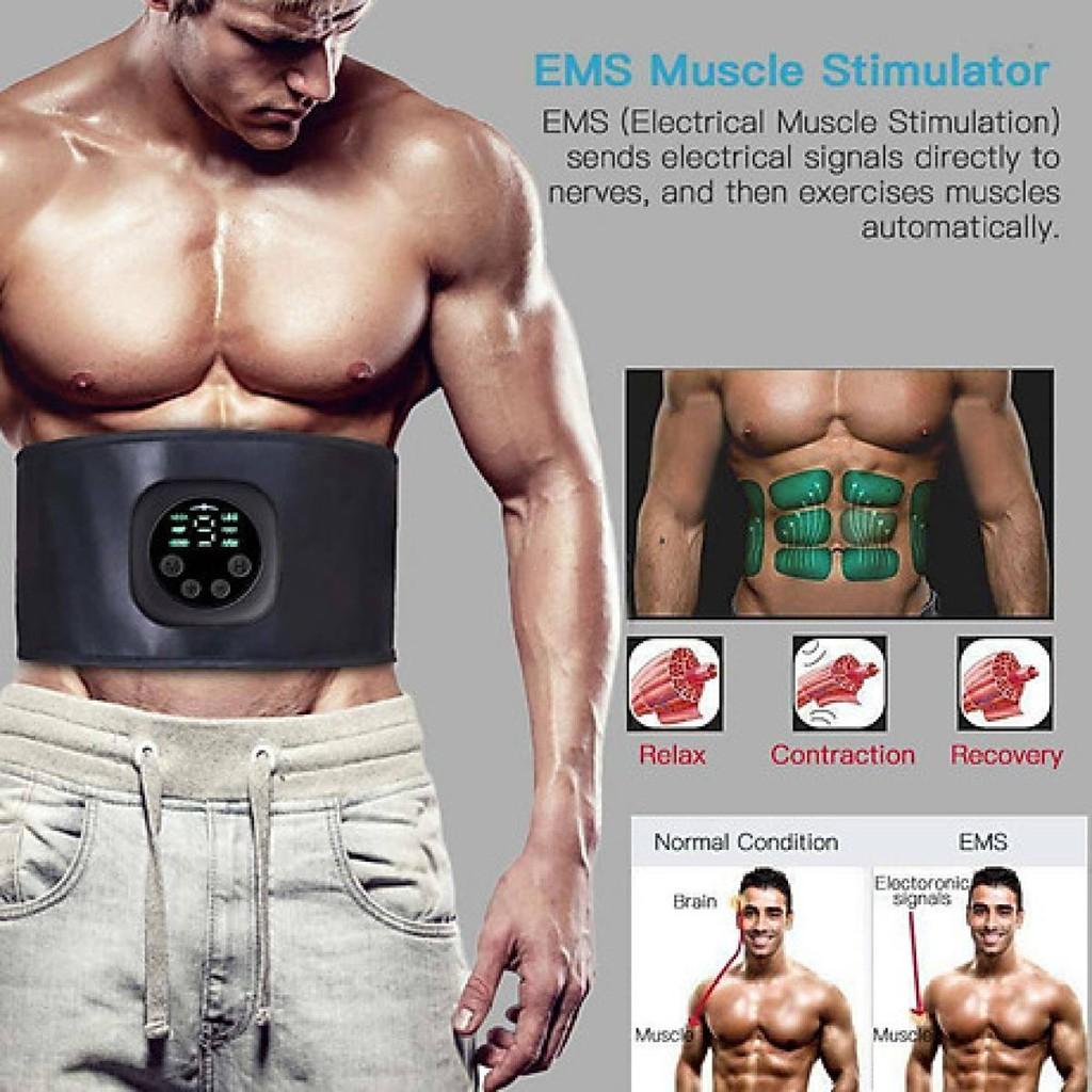 Đai masssage giảm mỡ bụng Kiêm đai tập cơ bụng X100