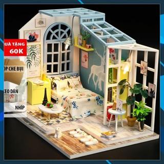 Mô hình nhà búp bê gỗ DIY Nhà búp bê Mô hình láp ghép DIY FAMILY NAP S922 Toy World thumbnail