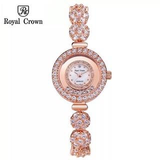 Đồng hồ nữ Chính Hãng Royal Crown 5308 Jewerry Rose Gold