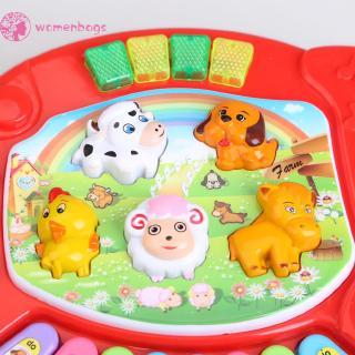 WB✿Baby Kids Musical Educational Animal Farm Piano Developmental Music Toy