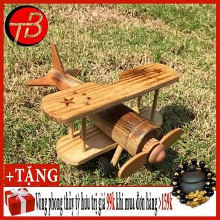 Máy Bay 2 Tầng Cánh Gỗ Trang Trí Handmade BMBE1076 [SP Hót]