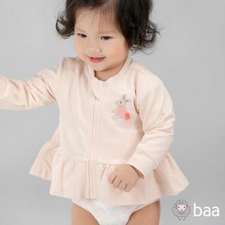 Áo khoác sơ sinh BAA BABY bèo lai thêu hình cho bé gái - GN-AK04D