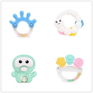 4Pcs Baby Education Toys Teether Rattle bottle 0-3Years Old Gifts