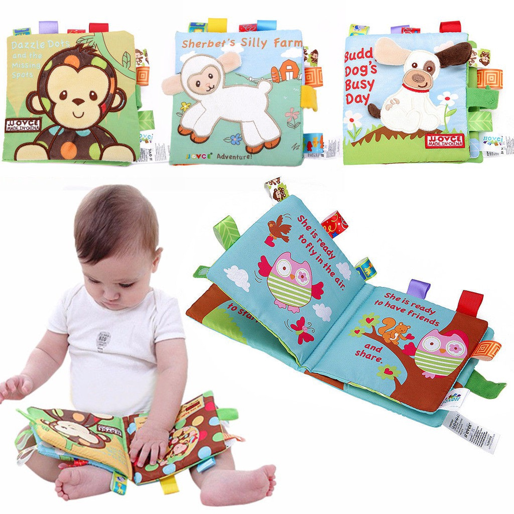Baby Animal Cloth Book Infant Intelligence Development Toy Cognize Books