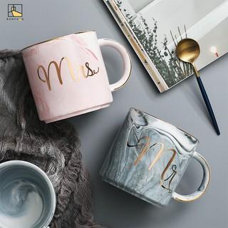 BANFANG Cốc uống cà phê , cà phê in hình các cẩm thạch