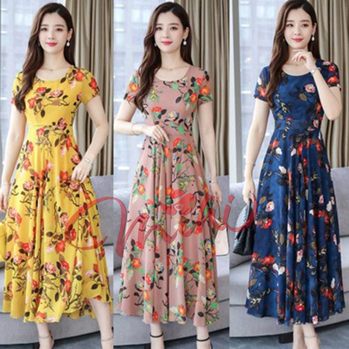 Váy Đầm Trung Niên Nữ Cho Mẹ Họa Tiết Dáng Dài V04 - Thời Trang Cho Người Lớn Tuổi Trung Tuổi U40 U50 Giá Rẻ Đẹp Bigsize