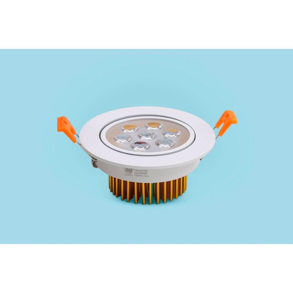 Đèn led âm trần downlight 3 màu viền VÀNG 7W, 9W MD LED LIGHTING