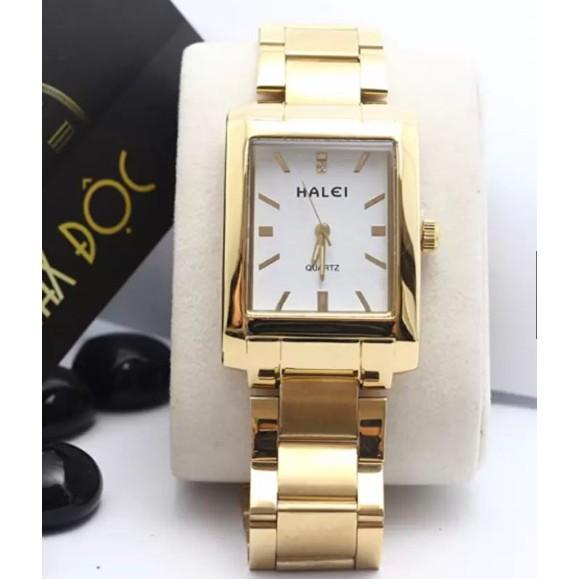 Đồng hồ nữ Halei mặt vuông màu trắng xinh xắn