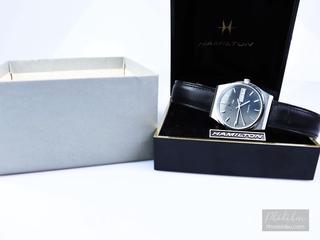 Đồng hồ nam Hamilton dây da đen 3 kim 2 lịch máy Quartz kiểu cổ điển thumbnail