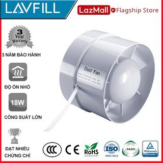 [Mã ELFLASH5 giảm 20K đơn 50K] [FREESHIP 99K]_Quạt thông gió đường ống với đường kính phi 150mm LAVFILL LFI-13S