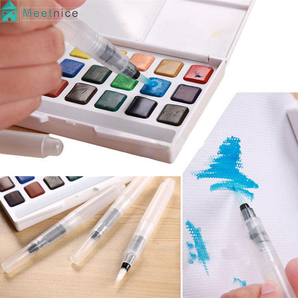 3PCS S+M+L Water Brush Pens Art Crafts Tool Watercolor Painting Calligraphy