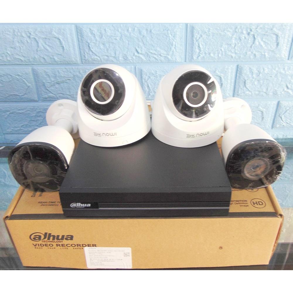 Trọn Bộ Camera Giám Sát Đầu ghi hình Dahua 4 Kênh IPC POE 2104 và 4 cam  K3XA. K8XA - 2.0MP Full HD1080P chuẩn nén H265