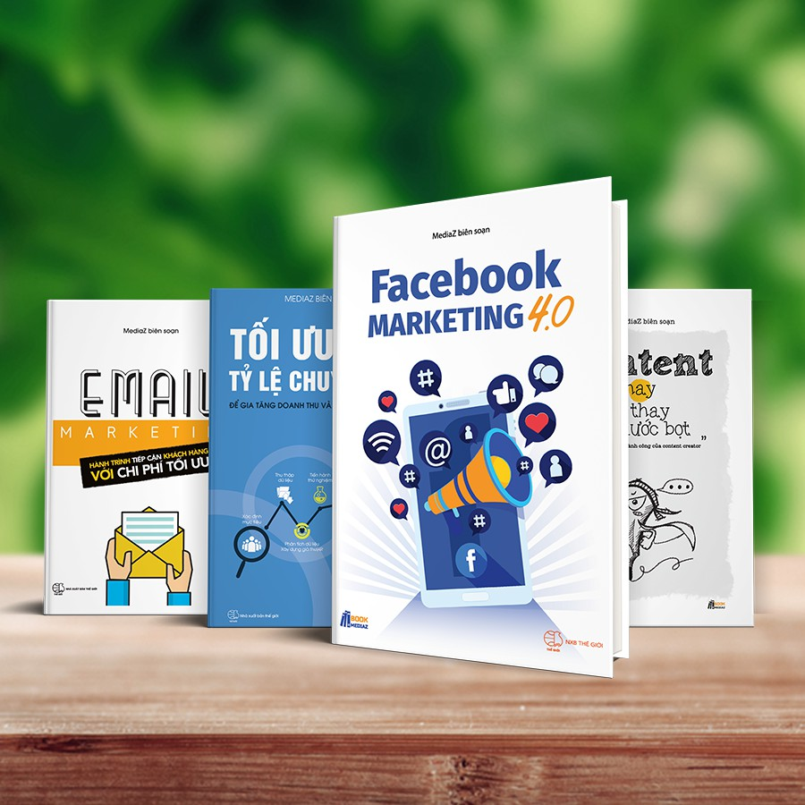 Bộ 04 Cuốn Facebook Marketing 4.0 - Content Hay Nói Thay Nước Bọt - Email Marketing - Tối Ưu Hóa Tỷ Lệ Chuyển Đổi