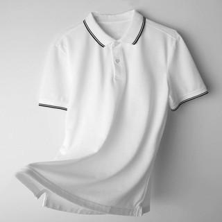 Áo phông nam ngắn tay cổ bẻ phối viền cao cấp : Kiểu dáng Hàn Quốc chất liệu cotton , co giãn 4 chiều