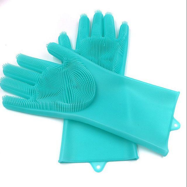 Găng tay rửa chén silicon thần thánh