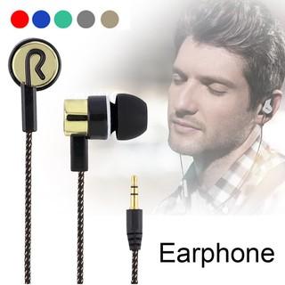 Tai nghe in ear nhét tai dây bện dù sáng tạo (Hàng VN có sẵn) | Tai nghe điện thoại máy tính kim loại dây dù