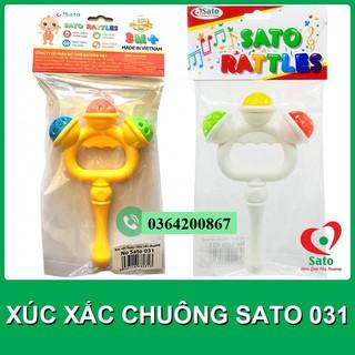 Đồ chơi XÚC XẮC CHUÔNG cầm tay Sato / LỤC LẠC cho bé