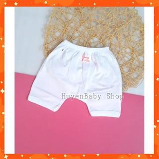 (sale off) Quần đùi mặc bỉm màu trắng Baby Moon cho bé từ sơ sinh đến 9kg loại đẹp thumbnail