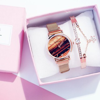 Đồng hồ thời trang nữ Candycat dây lưới nam châm LR77