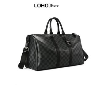 Túi đeo chéo du lịch xách tay nam nữ cao cấp da pu lv size lớn tập gym đựng giày quần áo thời trang thể thao chống nước